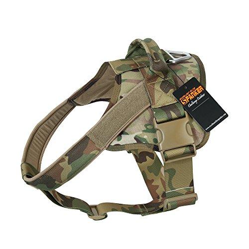 EXCELLENT ELITE SPANKER Hundegeschirr Ausbildung Patrol Service Dog Weste Arbeiten verstellbar Hund Weste(Camouflage-XS) -
