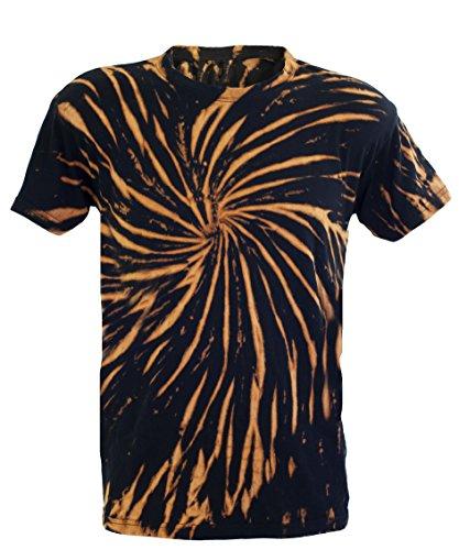 Tie Dye Bleach Fossil Spiral 701784 Herren T-Shirt 003 2XL (Tie-dye-bleach)