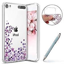 Robinsoni Coque iPod Touch 5/6 Étui en Silicone,Coque Transparente motif Fleur de Cerisier Cherry blossoms Rose Coque,Souple Tpu Ultra-Mince Cristal Clair Coque Housse Etui iPod Touch 5/6,#9