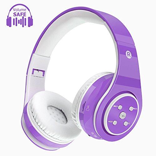 Cuffie senza fili per bambini Cuffie Bluetooth Safe Volume Limited, tempo di riproduzione lungo 6-8h, slot per scheda SD,...