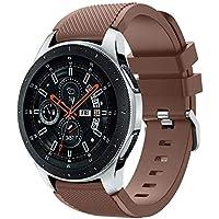 """samLIKE Pulsera de Silicona para Samsung Galaxy Watch 46mm–Transpirable Rayas Diseño Brazalete Deportivo Ajustable para Pulsera para Hombre y Mujer, 5.5""""DE 8.4, 10Colores, Color �� Kaffee"""