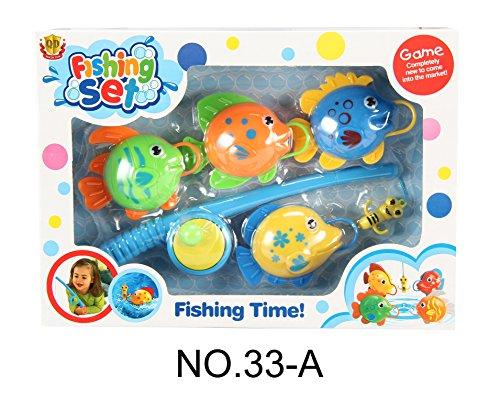 Zantec Kinder Wasser Pool Angeln Spielzeug Fische und Angelruten Set Cute Bad Spielzeug für Jungen und Mädchen Fische Farbe zufällig