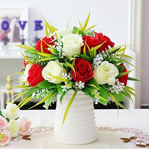 Blumen der kleinen Blume Pflanzen Sukkulenten falsche Kombination Topf Inneneinrichtung Dekoration Wohnungseinrichtung, Akazie Buda Rot, die keramische Flaschen