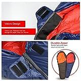 Mountaintop Schlafsack Daunenschlafsäcke Mumienschlafsack für Camping, Wandern, Outdooraktivitäten, 3/4 Jahreszeiten -