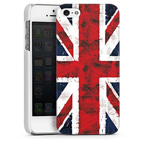 Apple iPhone 5 Housse Outdoor Étui militaire Coque Grande-Bretagne Drapeau Union Jack - Grunge CasDur blanc