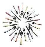 Excelsa Bolero Servizio 24 Posate, Acciaio Inossidabile, Multicolore