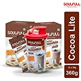 Soulfull Millet Smoothix- Cocoa Lite Protein Drink, 12 Sachets| Free Shaker