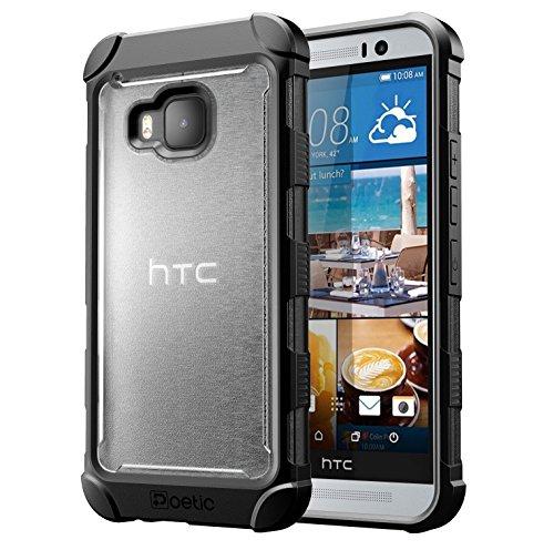 HTC One M9 Schutzhülle - Poetic [Affinity Series] - [TPU Grip Auto] [Schutzecken] Schutz Hybrid Fall für HTC One M9 (2015) Frost Klar/Schwarz (3-Jahres-Herstellergarantie von Poetic)