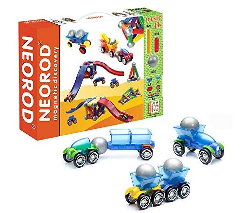 Jeu de construction magnétique, blocs de construction pour enfants, mini jeu éducatif et créatif - 46 pièces (idée cadeau de Noël pour les enfants)
