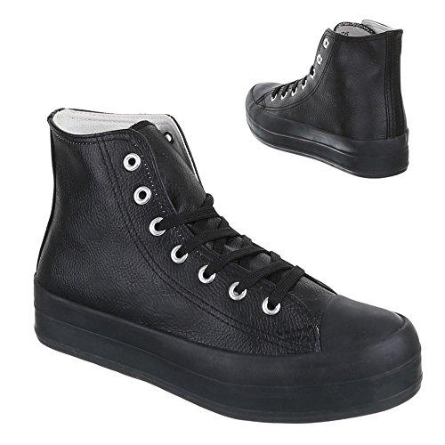 Chaussures femme, infrarouge 376, les loisirs chaussures à lacets Sneakers Noir - Noir