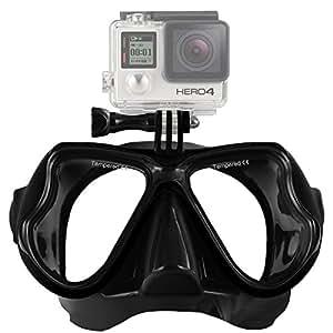 Aokon GoPro Hero4 / Hero3 + / 3 SJ sessione multi-funzione Occhiali Dive maschera per immersioni subacquee e snorkeling ( nero )