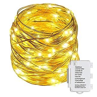 Starker-10M-100er-LED-Silberdraht-Lichterkette-8-Modi-IP65-Wasserdicht-LichterkettenTIMER-Funktion-Batterie-Lichterkettefr-Innen-und-Auen-dekorationHochzeiten-und-PartysWeihnachten-Warmwei