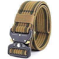 Deportes cinturón de Entrenamiento con Hebilla de Metal Universal Resistente Ajustable Nylon Cobra cinturón táctico para Actividades al Aire Libre, formación, Senderismo, Camping, Aventura de la selv