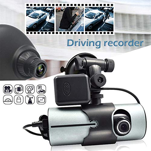 """ATpart Dashcam Auto-Kamera R300 Doppellinse Dash Cam 2,7""""Full HD-Kamera mit DVR-Kamera und GPS-Logger"""