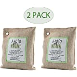 Moso Natural Air Purifying Bag 200g Natural Color Naturally Removes Odors,Allergens and Harmful Pollutants . Reuse Upto 2 Years , PACK OF (2)