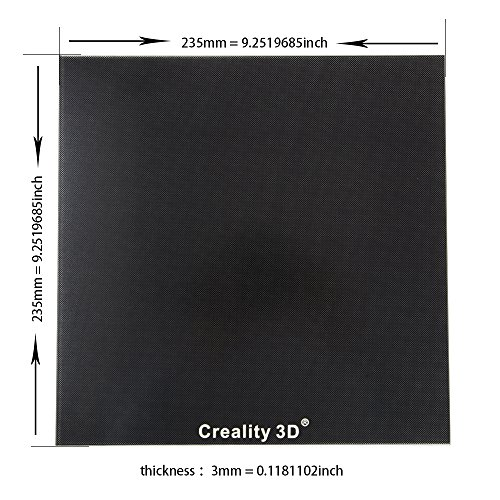 Price comparison product image Comgrow Heat Bed Glass Plate 235 x 235mm for Creality 3D Printer Ender-3 Ender-3 Pro