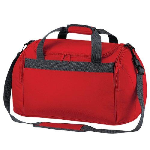 BagBase neue Freestyle Mini Reisetasche Overnight Gepäck Taschen mit Reißverschluss-Tragetasche rot - rot