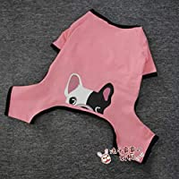 WLBD Law fighting pet fat dog print cute clothes@Pink_XL clothes x small dog clothing