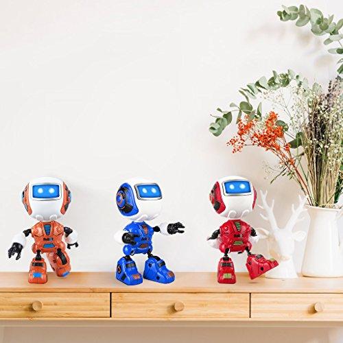 Virhuck Robot d'induction, Sensing Touch Robot Jouets Multi-Fonction avec Musique Lumière Mini Alliage Robot Intelligent Jouet Cadeau Enfants (Rouge)