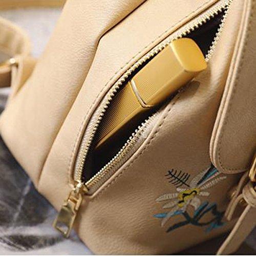 2017 Nuovi Zainhi Del Ricamo Delle Ragazze Stile Di Stile Nazionale Fiorisce Il Sacchetto Di Spalla Ricamato Colore Khaki