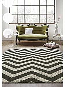 benuta tapis de salon moderne graphic zick zack pas cher noir blanc 160x230 cm label de. Black Bedroom Furniture Sets. Home Design Ideas
