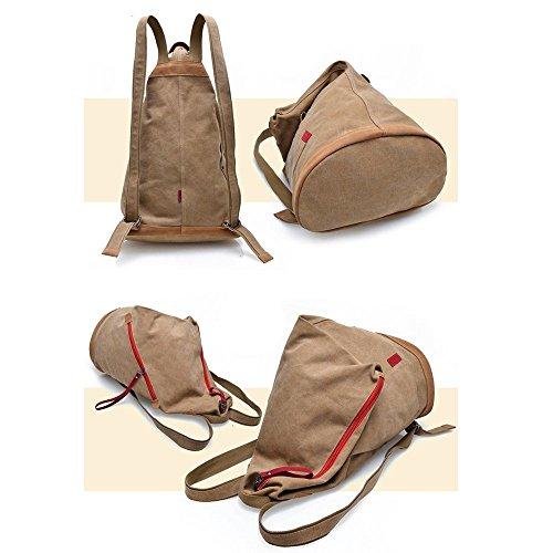 Minetom Unisex Vintage Tracolla Donna Canvas Shoulder Bag Grande Borsa Nera-styleb