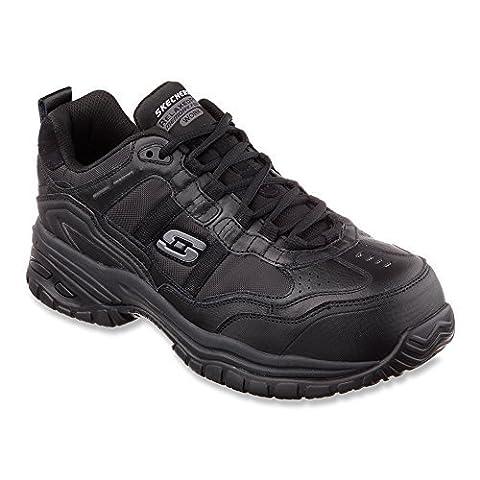 Skechers For Work 77013 Soft Stride Grinnel Slip Resistant Steel Toe Work Shoe