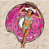 Coperta rotonda asciugamano da spiaggia, grande Tukistore Beachwear Spiaggia coperta Terry Beach Roundie coperta da picnic Tappeto da bagno Bikini Cover-up Yoga Mat