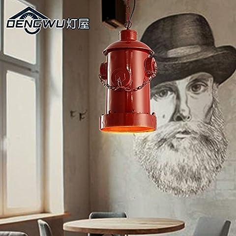 BBSLT Comedor candelabros de hierro industrial faro único candelabro de arte nórdico bar cafetería retro 230*400mm , DW-D0674-1 amarillo