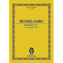 Sinfonie Nr. 1 c-Moll: op. 11. Orchester. Studienpartitur. (Eulenburg Studienpartituren)