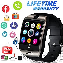 Bluetooth Smart Watch Waterproof Smartwatch With Camera Sim Tf Card Slot Touch Screen Phone Unlocked Cell Phone Watch Sports Smart Wrist Watch For Android Phones Samsung Ios Iphone Men Women Kids