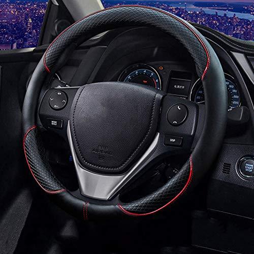 Preisvergleich Produktbild TZYY Mikrofaser Leder Universal Auto lenkradhülle, Direkte Stretch Lenkradhülle Anti rutsch Geruchlos Für pkw LKW SUV-B Diameter:48cm(19inch)