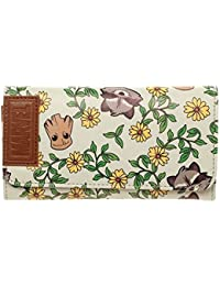 Marvel Guardians of the Galaxy Groot & Rocket Floral Flap Portefeuille