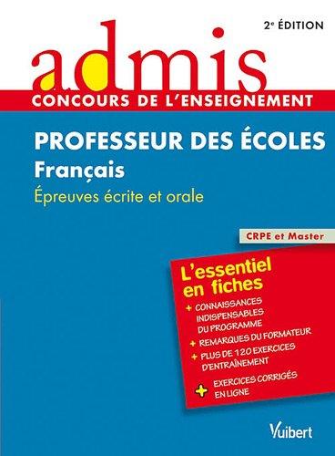 Concours professeurs des écoles français épreuves ecrites
