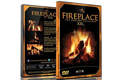 Kaminfeuer DVD - Kaminfeuer XXL gefilmt In HD - 2 DVD Set - mit extra langen Feuern und den Geräuschen von brennendem Holz (Gute Party Essen)