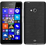 PhoneNatic Coque en Silicone pour Microsoft Lumia 540 Dual - brushed argenté - Cover Cubierta + films de protection