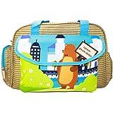 Rachna's Lorem Ipsum Dolor Bear Matte Fabric Multi-Purpose Travel Organizer Water Repellent Baby Diaper Bag - 1701 - Brown