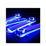QIGE/Car Decoration Led Foot Round A Flat Interior Atmosphere Flat Blue J