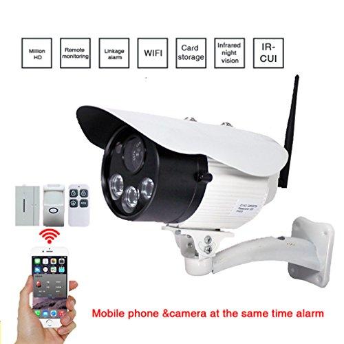 Wasserdicht Wifi Kamera, HD 720P Überwachungskamera Aussen IP mit IR Cut, Zwei-Wege-Audio,...