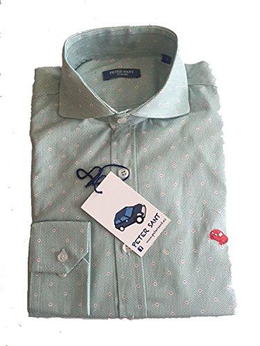 PETERSANT -  Camicia Casual  - Uomo Verde M