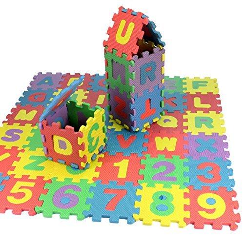 36pcs Krabbeldecke für Kinder Kinder Alphabet & Zahlen aus weichem Schaumstoff Puzzle Spiel von trimmen Shop