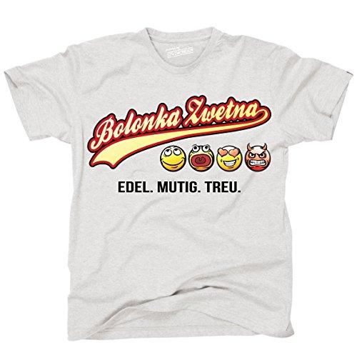 Siviwonder Unisex T-Shirt BOLONKA ZWETNA - OLD SCHOOL EDEL MUTIG TREU Hunde Ash