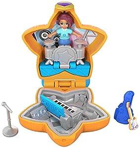 Polly Pocket Mini cofre concierto de rock, muñeca con accesorios (Mattel FRY32)