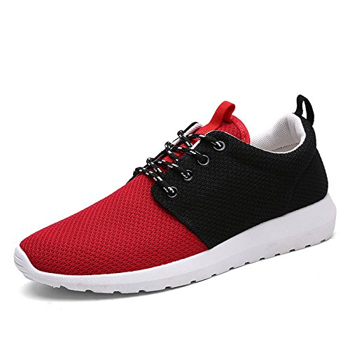 Men's Breathable Lightweight Zapatillas Hombre Running Shoes red