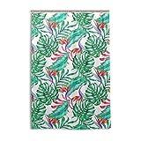 XiangHeFu Tenda da Doccia con Ganci 121,9x 182,9cm Estate Modello Tropicale Floreale Seamless Leaf, Impermeabile e Resistente alla Muffa 100% per Donna Uomo Bagno Home Decor