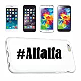 Handyhülle Samsung S8+ Plus Galaxy Hashtag #Alfalfa im Social Network Design Hardcase Schutzhülle Handycover Smart Cover für Samsung Galaxy Smartphone in Weiß Schlank und schön, das ist unser HardCas