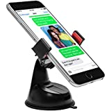 Power Theory Car Phone Holder - Universal Car Mount - Includes 3M Dashboard Stick Pad for Uneven Surfaces for Apple iPhone 6s 6 plus 5 5s 5c 4 4s Samsung Galaxy S7 S6 Edge S5 S4 S3 smartphone