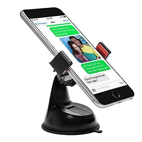 Power Theory Universal Handy Halter - Gratis 3M Klebepad KFZ Armaturenbrett Handyhalterung Auto Halterung für iPhone 7 6s 6 plus SE 5 5s 5c Samsung Galaxy S8 S7 Edge S6 S5 S4 LG HTC und alle Smartphones (Rot)