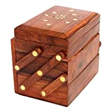Itos365 Brown Wooden Jewellery Box