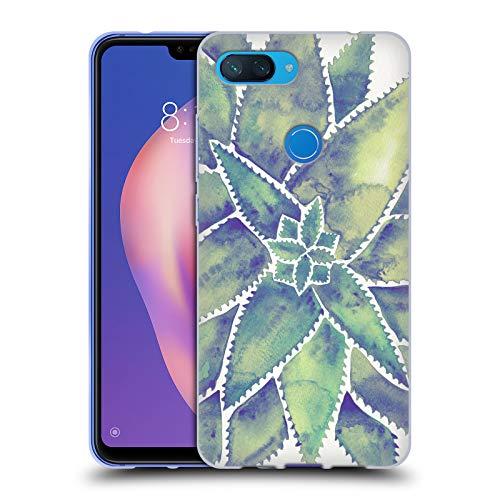 Head Case Designs Offizielle Cat Coquillette Aloe Vera Marmoriert Tropisch Soft Gel Hülle für Xiaomi Mi 8 Lite/Mi 8X